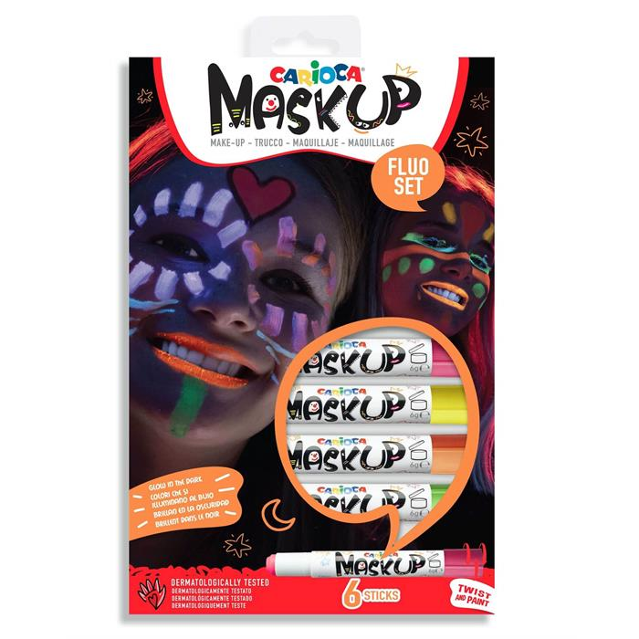 Carioca Mask Up Yüz Boyası - Neon (6 Renk)