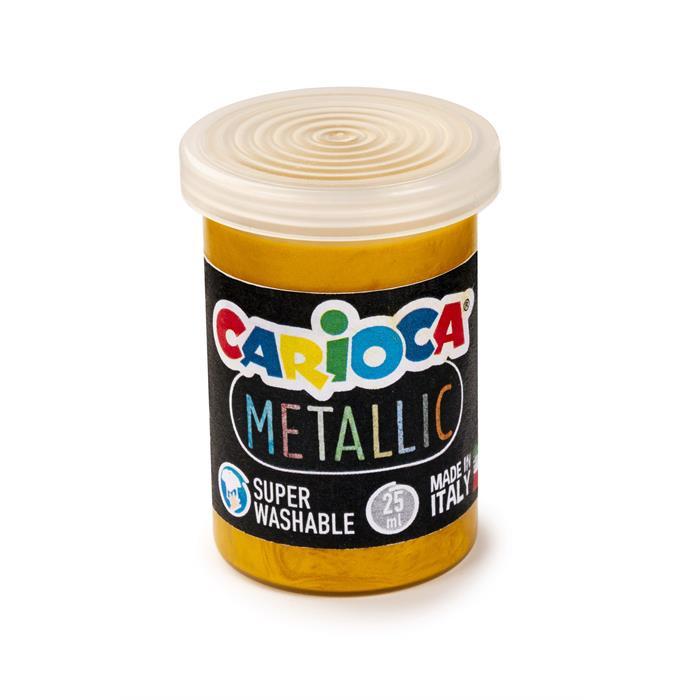 Carioca Tempera Boya (Süper Yıkanabilir) Metalik 6x25gr