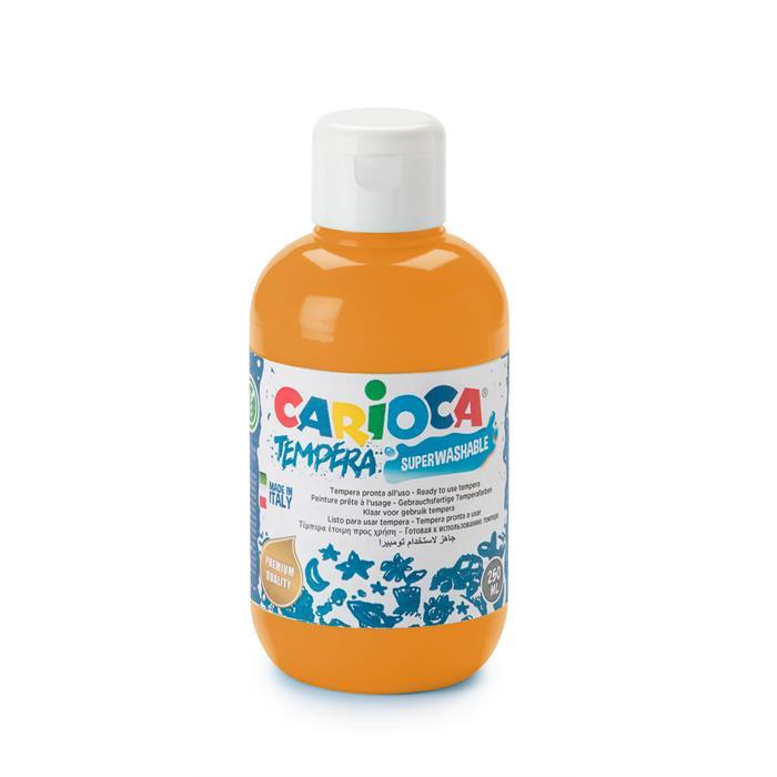 Carioca Tempera Boya (Süper Yıkanabilir) 250ml - Turuncu