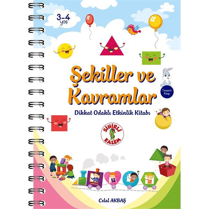 Şekiller ve Kavramlar - Dikkat Odaklı Etkinlik Kitabı