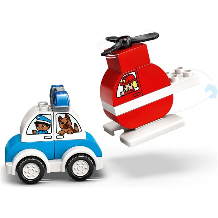 Lego Duplo 10957 Fire Helicopter Police Car