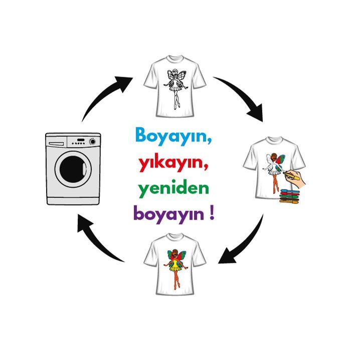 Paint and Wear T-Shirt Boyama Seti - Peri (4-6 Yaş)