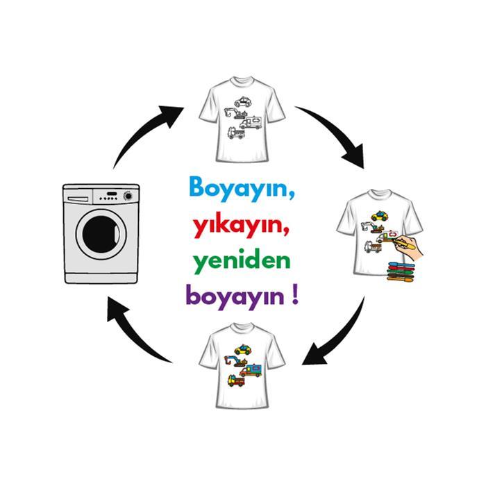 Paint and Wear T-Shirt Boyama Seti - Araçlar (4-6 Yaş)