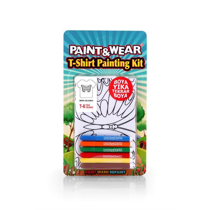 Paint and Wear T-Shirt Boyama Seti - Kelebek (7-8 Yaş)