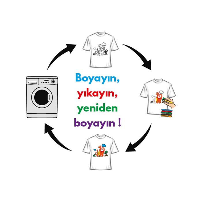Paint and Wear T-Shirt Boyama Seti - Dinozor (7-8 Yaş)