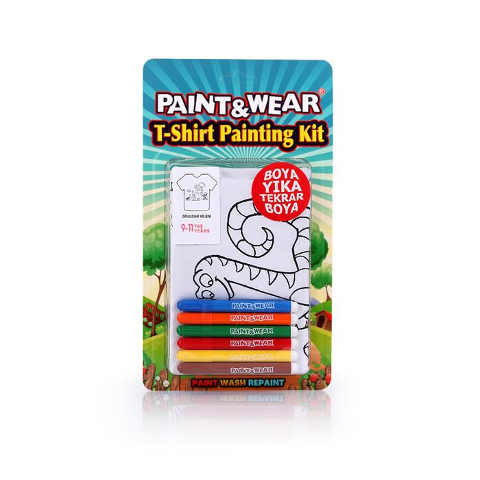 Paint and Wear T-Shirt Boyama Seti - Dinozor (9-11 Yaş)