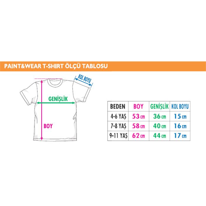 Paint and Wear T-Shirt Boyama Seti - Palyaço (9-11 Yaş)