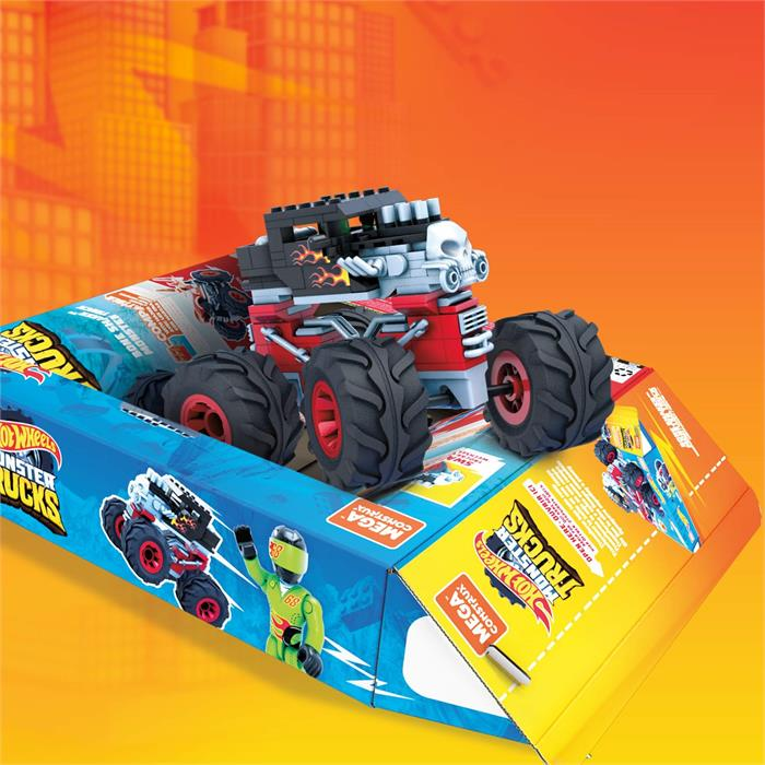 Mega Construx Hot Wheels Monster Trucks Serisi - Bone Shaker