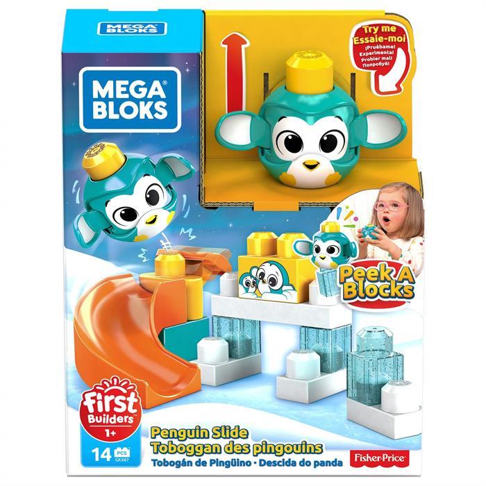 Mega Bloks First Builders Peek a Blocks Oyun Seti - Penguen Kaydırağı