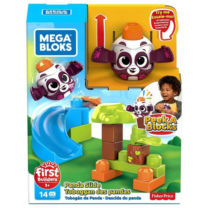 Mega Bloks First Builders Peek a Blocks Oyun Seti - Panda Kaydırağı