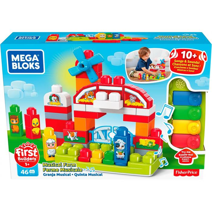 Mega Bloks First Builders Müzikli Çiflik Oyun Seti