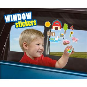 SES Creative Tak Çıkar Pencere Çıkartmaları - Çiftlik