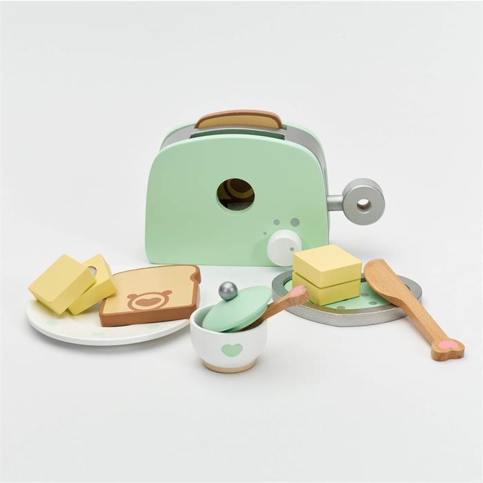 Classic World Ahşap Tost Makinesi ve Tost Seti