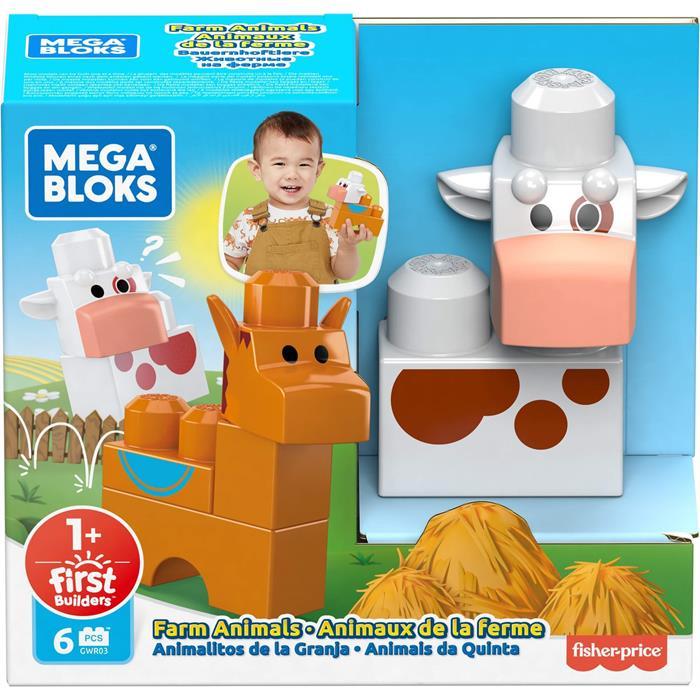 Mega Bloks First Builders Minik Hayvan Dostlar Serisi - Çiftlik Hayvanları (6 Parça)