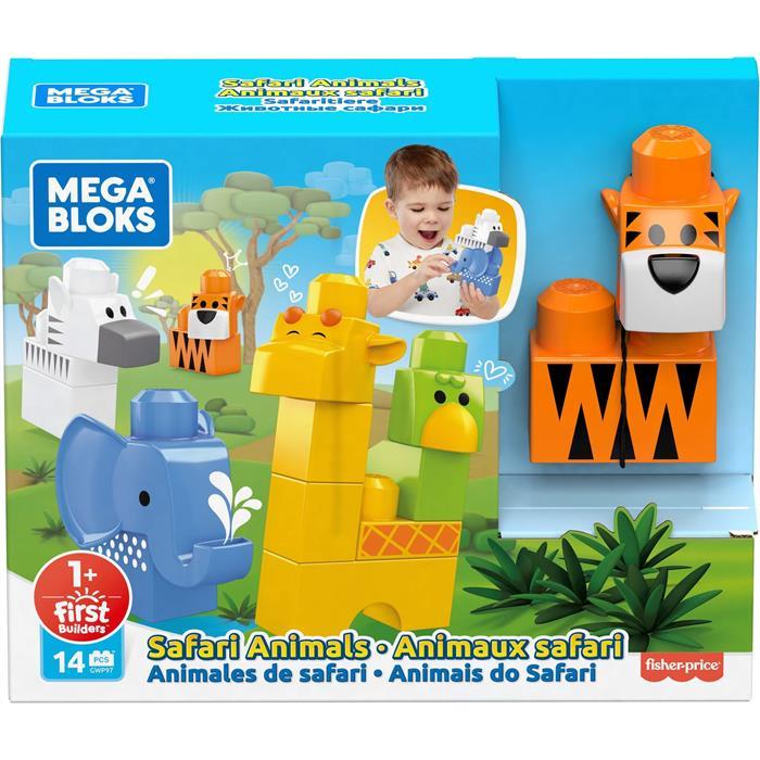 Mega Bloks First Builders Safari Hayvanları (14 Parça)
