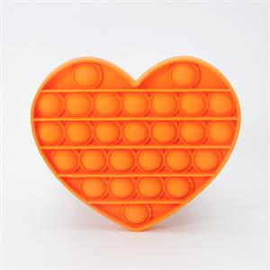 Pop It Pıtpıt Oyunu - Turuncu Kalp