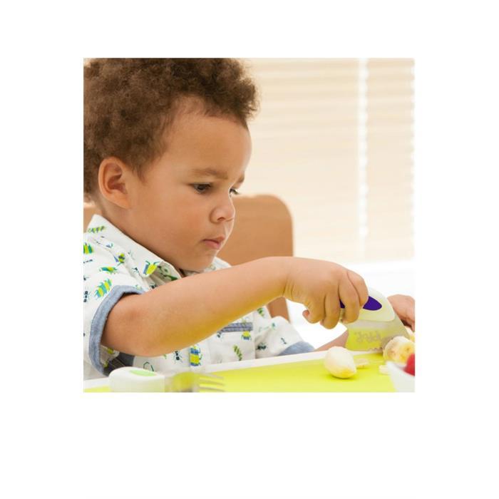 Doddl Çatal Kaşık Bıçak Seti 1-5 Yaş - İndigo