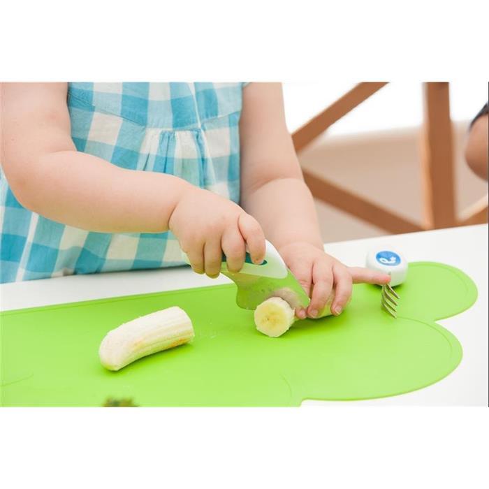 Doddl Çatal Kaşık Bıçak Seti 1-5 Yaş - Yeşil