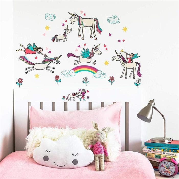 Tyrrell Katz Çocuk Odası için Dekoratif Duvar Çıkartması - Unicorn