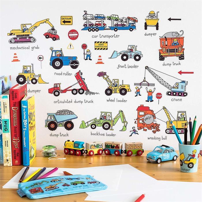 Tyrrell Katz Çocuk Odası için Dekoratif Duvar Çıkartması - Wheels