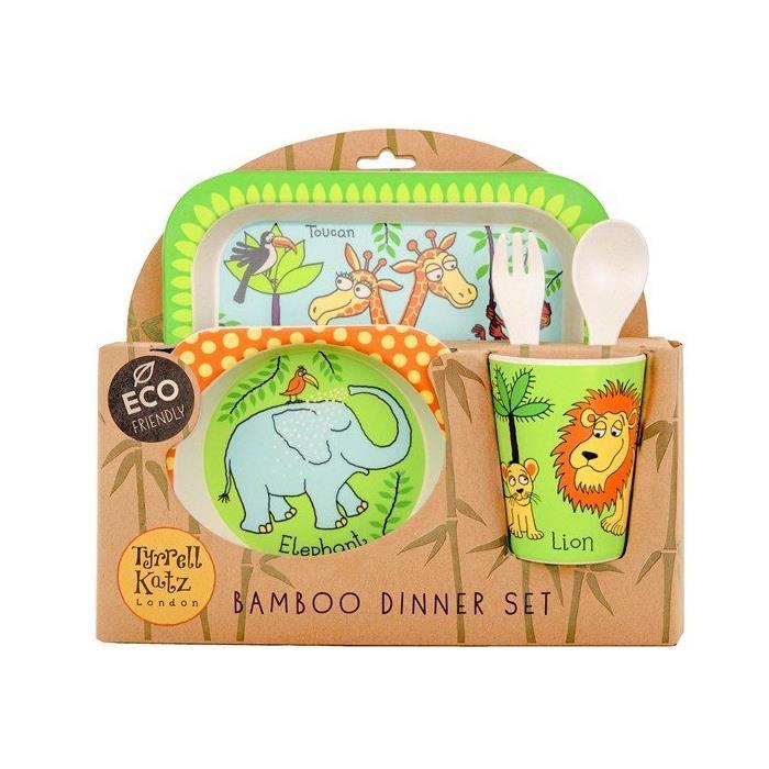 Tyrrell Katz Bambu Çocuk Yemek Seti - Jungle