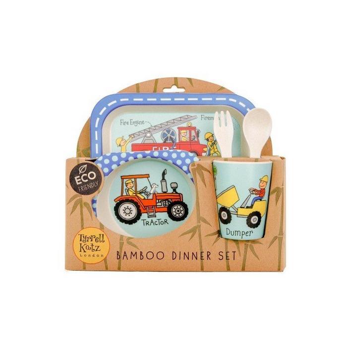 Tyrrell Katz Bambu Çocuk Yemek Seti - Wheels