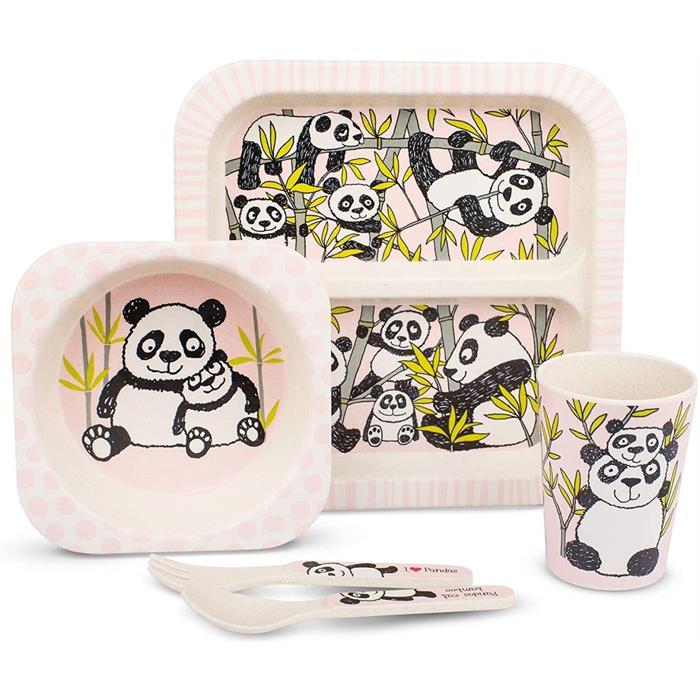 Tyrrell Katz Bambu Çocuk Yemek Seti - Panda