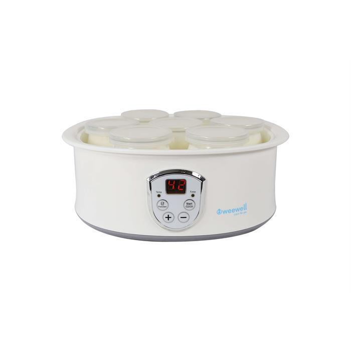Weewell WYM400 Dijital Yoğurt Yapma Makinası - 7 Cam Kap - LED Ekran