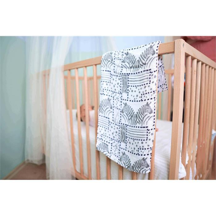 Posh Baby Müslin Bez 100x120cm Tekli Zebra