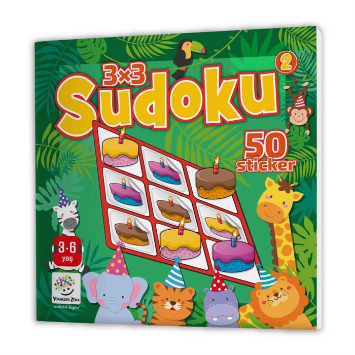 Stickerli Sudoku Serisi (3-6 Yaş) - Dikkat Geliştiren Bulmacalar