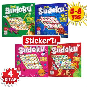 Stickerli Sudoku Serisi (5-8 Yaş) - Dikkat Geliştiren Bulmacalar