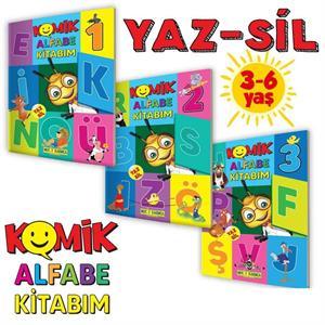 Mucit Karınca Komik Alfabe Kitabım (3-6 Yaş) Yaz-Sil Kitaplar