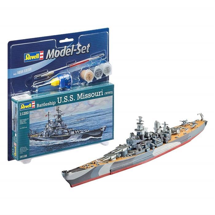 Revell Model Set Savaş Gemisi USS Missouri WWII 1:1120