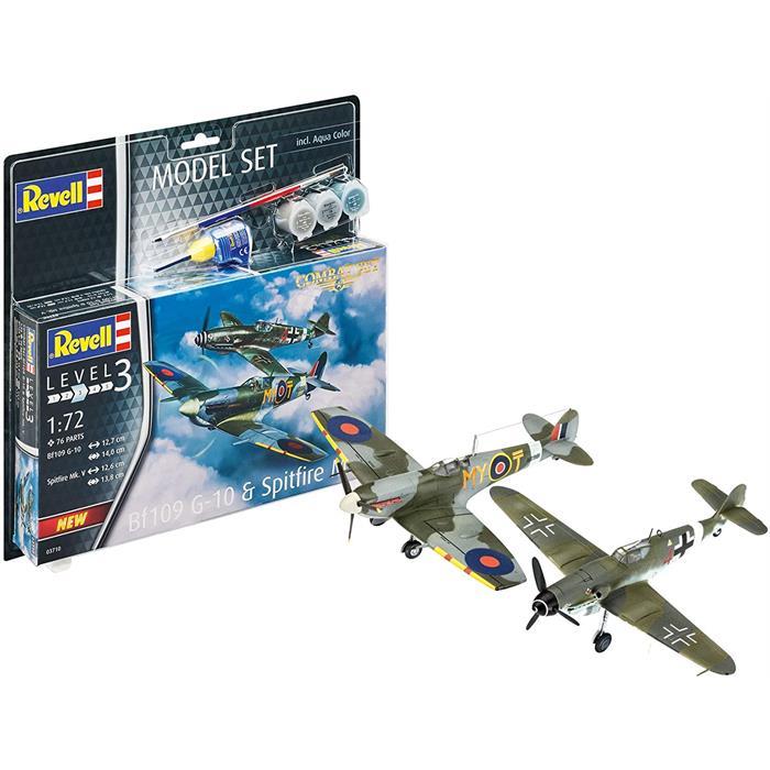 Revell Model Set Bf109G-10 Spitfire