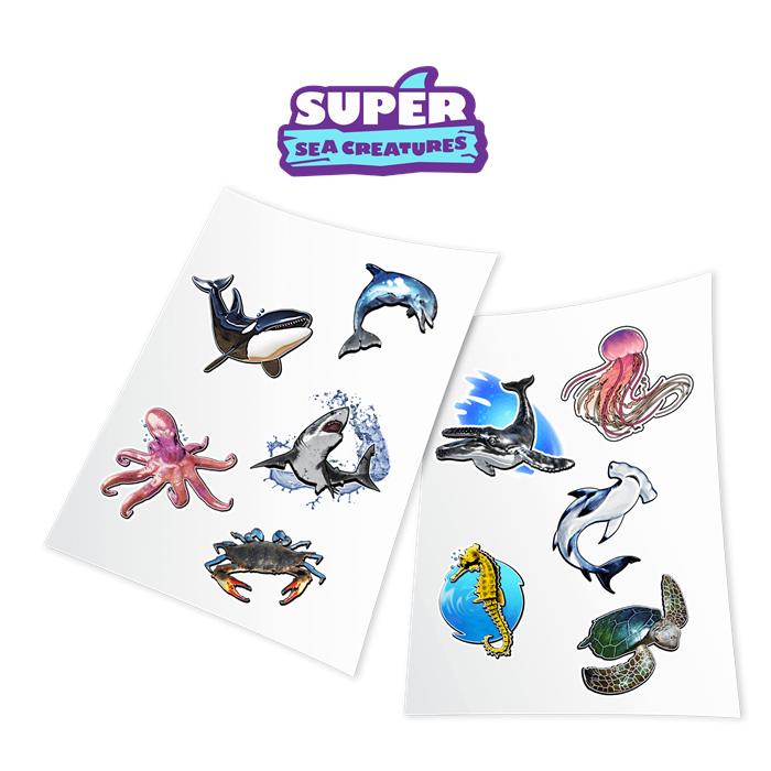 HoloToyz Sticker Super Sea Creatures AR Uyumlu Etiket