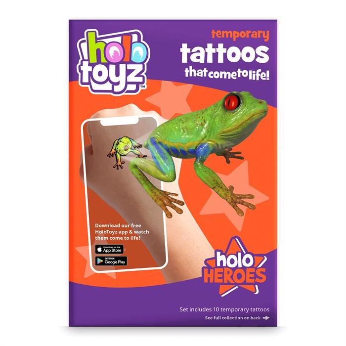 HoloToyz Tattoo Holo Heroes AR Uyumlu Geçici Dövme
