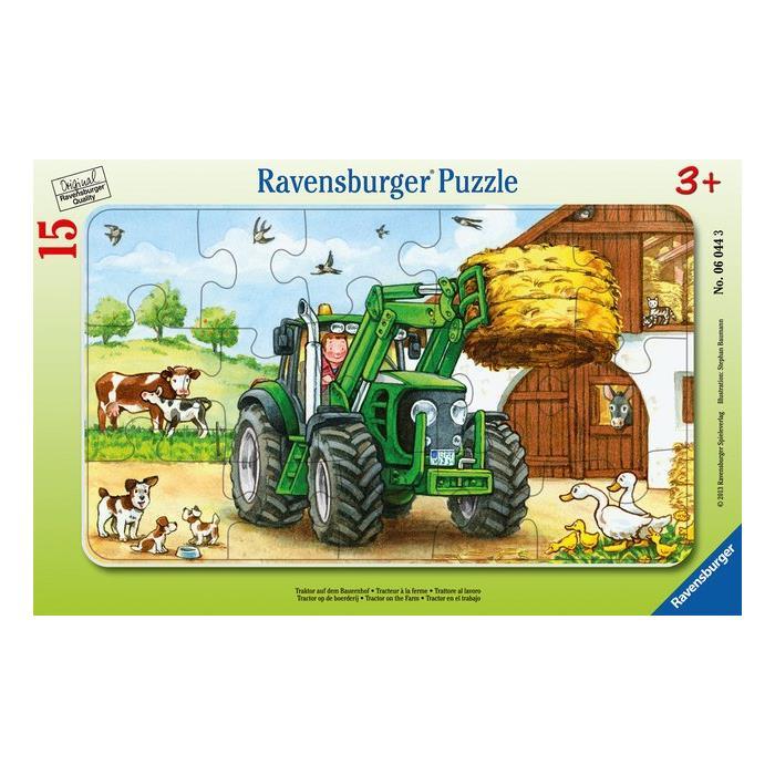 Ravensburger 15 Parçalı Puzzle Tractor on Farm 060443