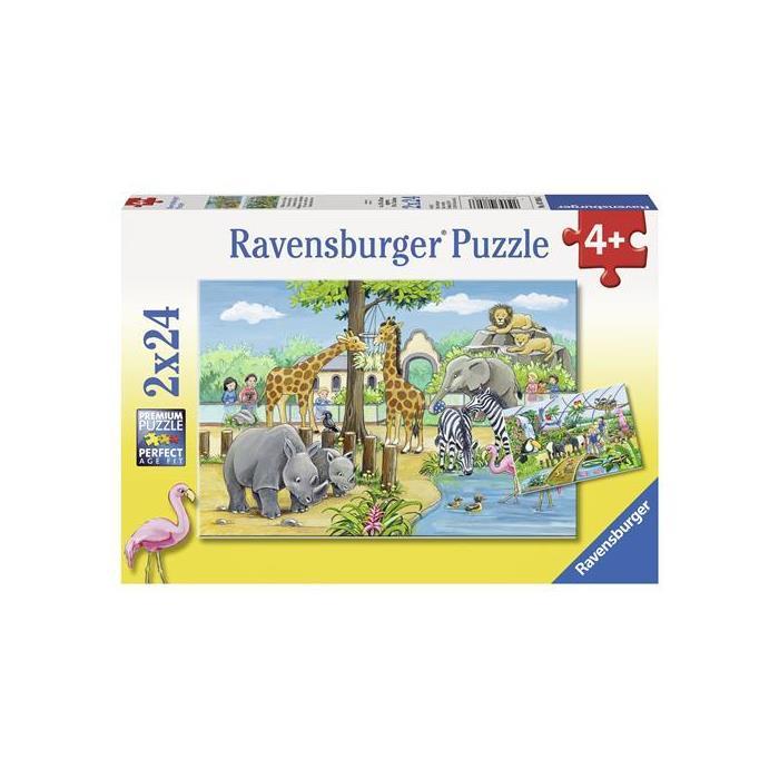 Ravensburger 2x24 Parçalı Puzzle Hayvanat Bahçesi 078066
