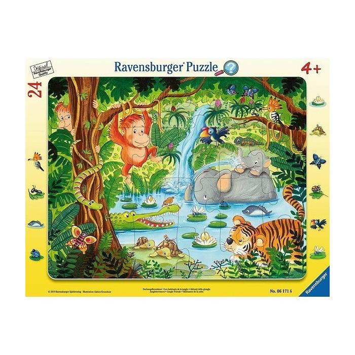Ravensburger 24 Parçalı Çerçeveli Puzzle Jungle 061716