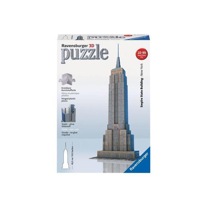 Ravensburger 3 Boyutlu Plastik Puzzle Empire State Binası 125531
