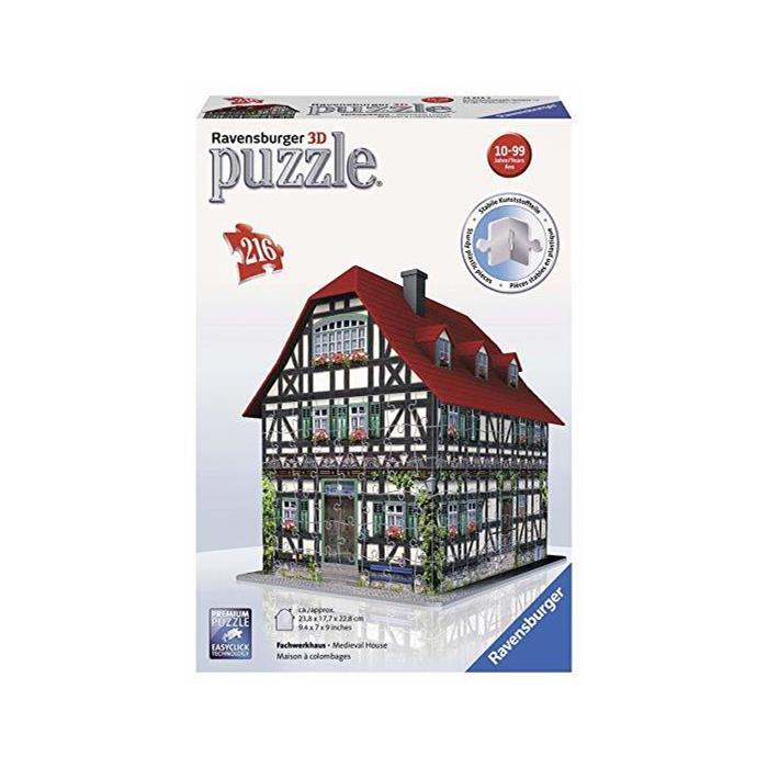 Ravensburger 3 Boyutlu Plastik Puzzle Çiftlik Evi 125722