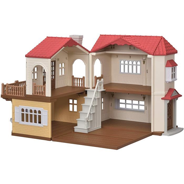 Sylvanian Families Kırmızı Çatılı Işıklı Şehir Evi 5302
