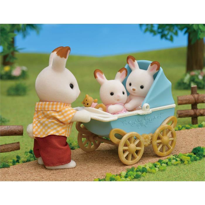 Sylvanian Families Çikolata Kulaklı İkiz Tavşan Bebek 5432