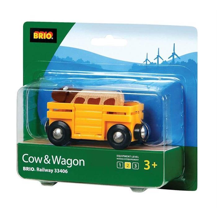 BRIO İnek ve Vagon 33406