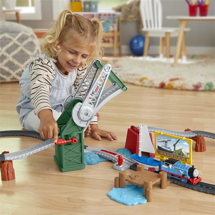 Thomas and Friends Thomas ve Skiff Açılır Köprü Macerası (Motorlu Trenli)