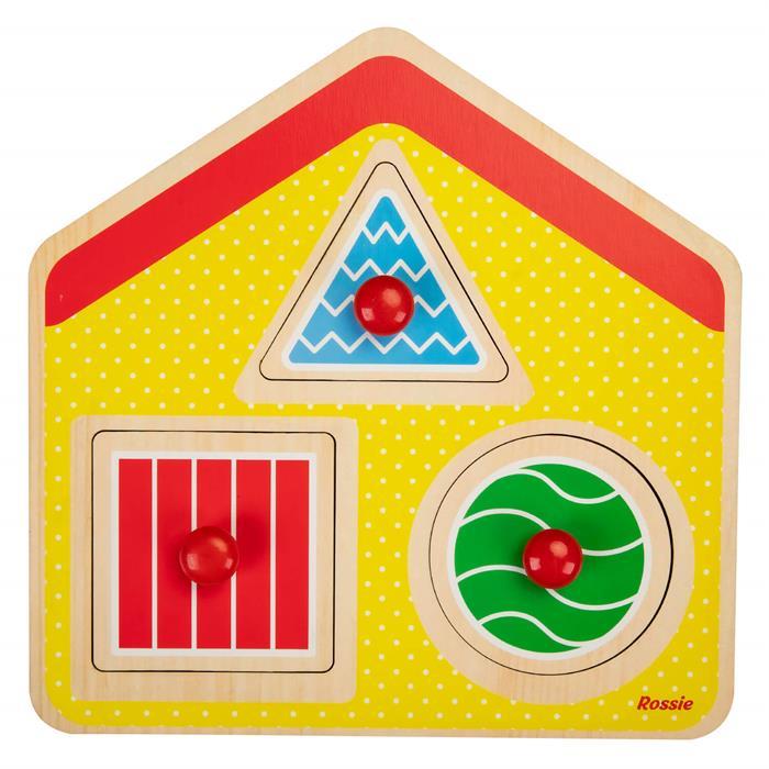 Rossie Ahşap İlk Yapboz - Geometrik Ev
