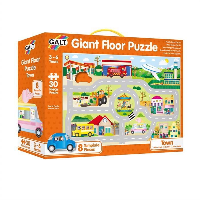 Galt Giant Floor Puzzle - Town 30 Parça