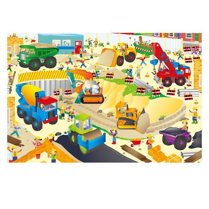 Galt Giant Floor Puzzle - Contruction Site 30 Parça