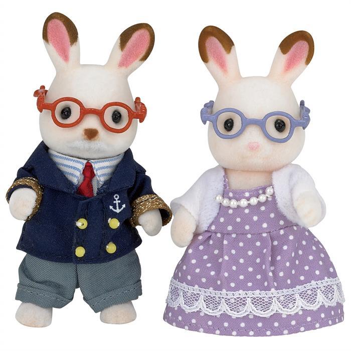 Sylvanian Families Çikolata Kulaklı Tavşan Anneanne ve Dede 5190