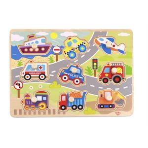 Tooky Toy Ahşap Taşıtlar Puzzle